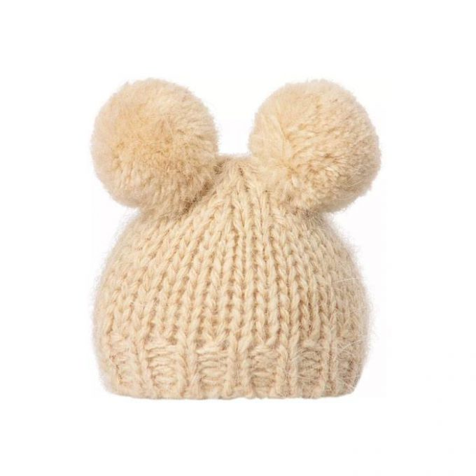 knitted-hat-w-2-pompom-cream